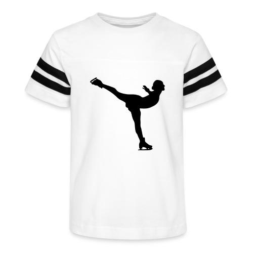 Ice Skating Woman Silhouette - Kid's Vintage Sport T-Shirt