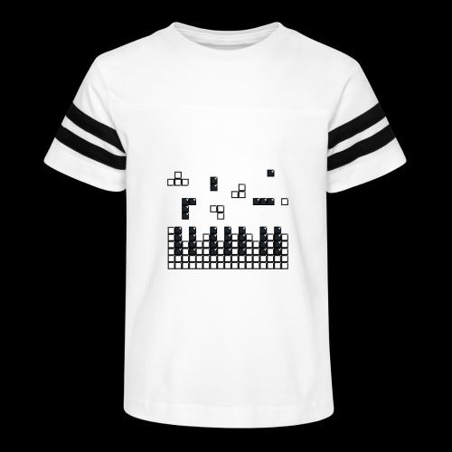 Hit the Brick Piano Keys - Kid's Vintage Sport T-Shirt