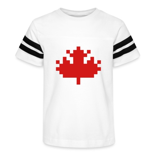 Pixel Maple Leaf - Kid's Vintage Sport T-Shirt