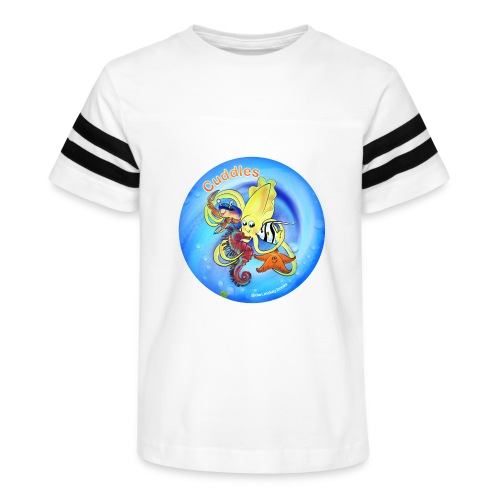 Cuddles clothes print. - Kid's Vintage Sports T-Shirt