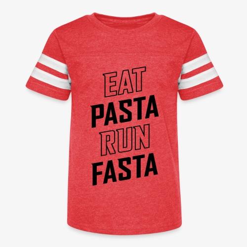 Eat Pasta Run Fasta v2 - Kid's Vintage Sport T-Shirt