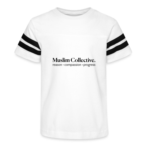 Muslim Collective Logo + tagline - Kid's Vintage Sport T-Shirt