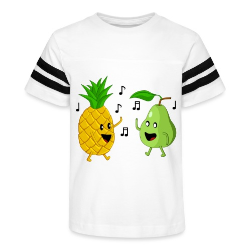 Dancing Pineapple and Pear - Kid's Vintage Sport T-Shirt
