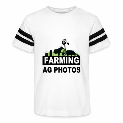 Farming Ag Photos - Kid's Vintage Sport T-Shirt