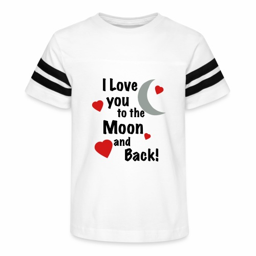 I Love You to the Moon and Back - Kid's Vintage Sport T-Shirt