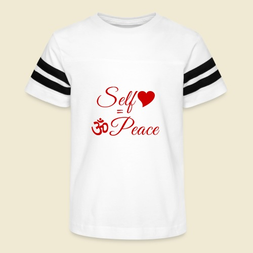 108-lSa Inspi-Quote-83.b Self-love = OM-Peace - Kid's Vintage Sport T-Shirt