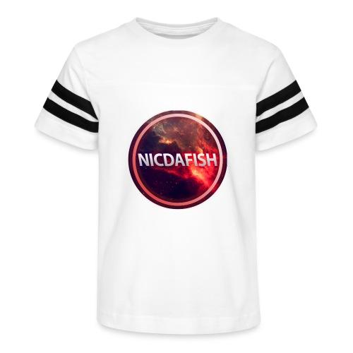 NicDaFish Logo - Kid's Vintage Sport T-Shirt