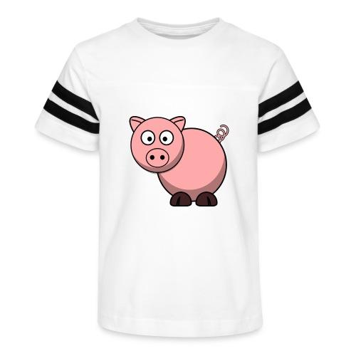Funny Pig T-Shirt - Kid's Vintage Sport T-Shirt