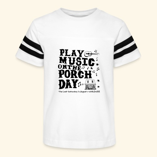 PLAY MUSIC ON THE PORCH DAY - Kid's Vintage Sport T-Shirt