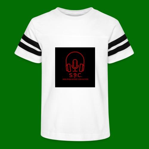 SPC Logo Black/Red - Kid's Vintage Sport T-Shirt