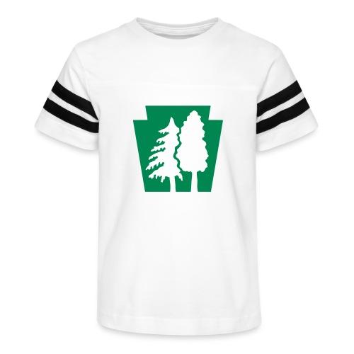 PA Keystone w/trees - Kid's Vintage Sport T-Shirt