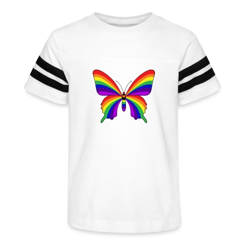 Rainbow Butterfly - Kid's Vintage Sport T-Shirt