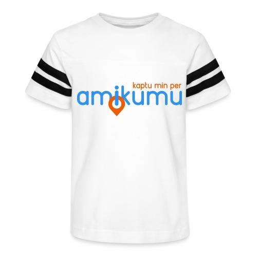 Kaptu min per Amikumu Blua - Kid's Vintage Sport T-Shirt