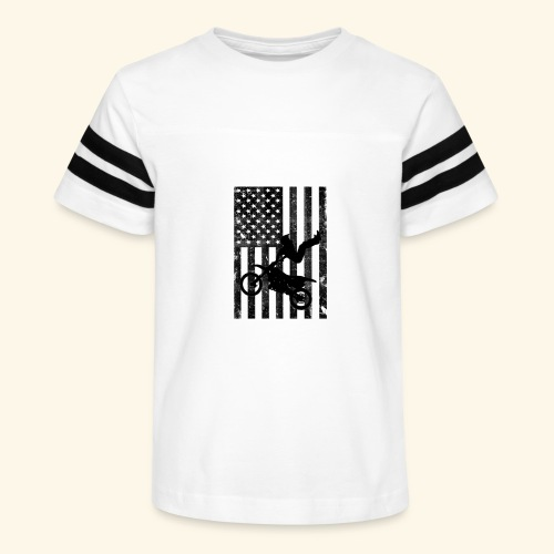 American Flag (Black and white) - Kid's Vintage Sport T-Shirt