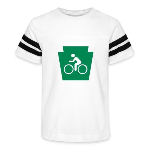 PA Keystone w/Bike (bicycle) - Kid's Vintage Sport T-Shirt