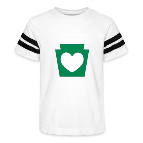Love/Heart PA Keystone - Kid's Vintage Sport T-Shirt