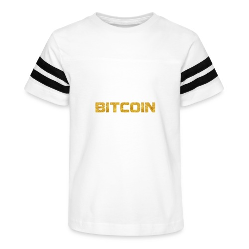 Bitcoin text - Kid's Vintage Sport T-Shirt