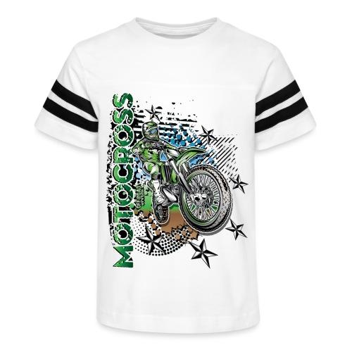 Kawasaki Dirt Bike Shirt - Kid's Vintage Sport T-Shirt