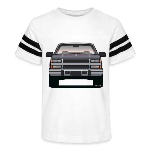 Design Icon: American Bowtie Silver Urban Truck - Kid's Vintage Sport T-Shirt