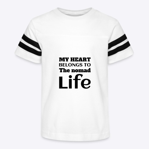 My Heart Belongs to the nomad Life-Dark - Kid's Vintage Sport T-Shirt