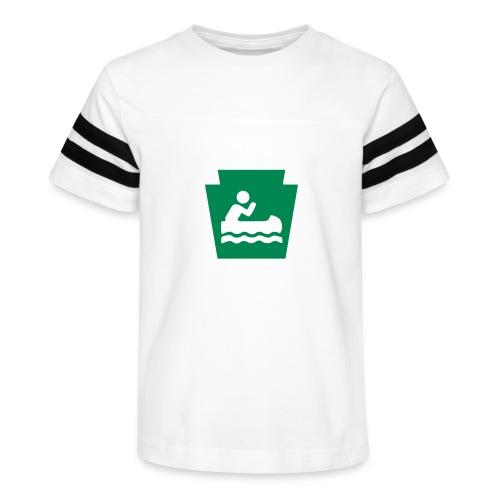 Pennsylvania Keystone Boater PA - Kid's Vintage Sport T-Shirt