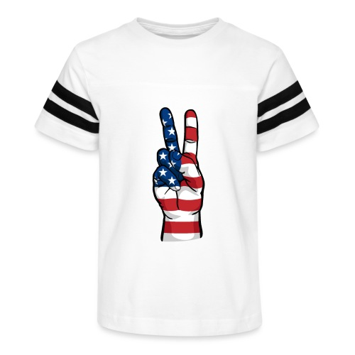 hand peace sign USA T small - Kid's Vintage Sport T-Shirt