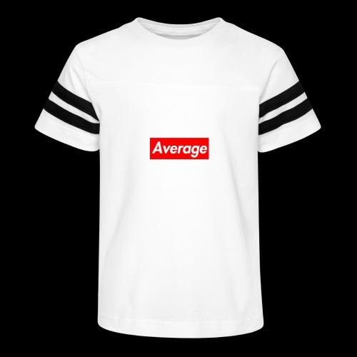 Average Supreme Logo Mockup - Kid's Vintage Sport T-Shirt