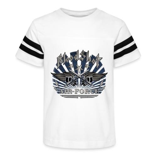 BloodShot Air Force with black - Kid's Vintage Sport T-Shirt
