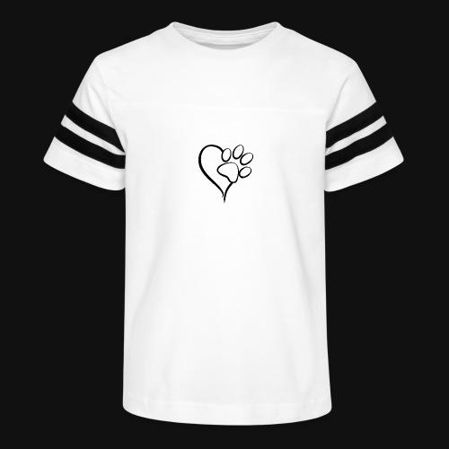 Pawprint on my Heart - Kid's Vintage Sport T-Shirt