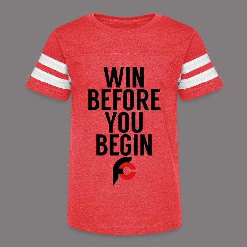 Win Before You Begin - Kid's Vintage Sport T-Shirt