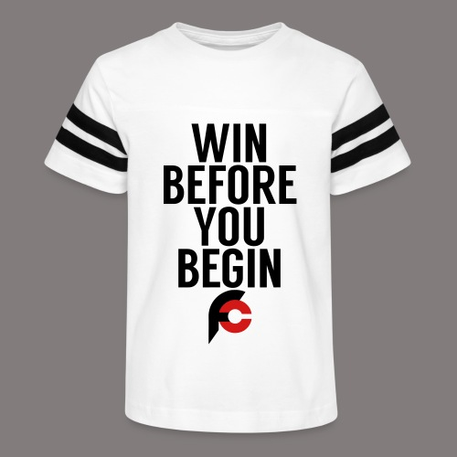 Win Before You Begin - Kid's Vintage Sport T-Shirt