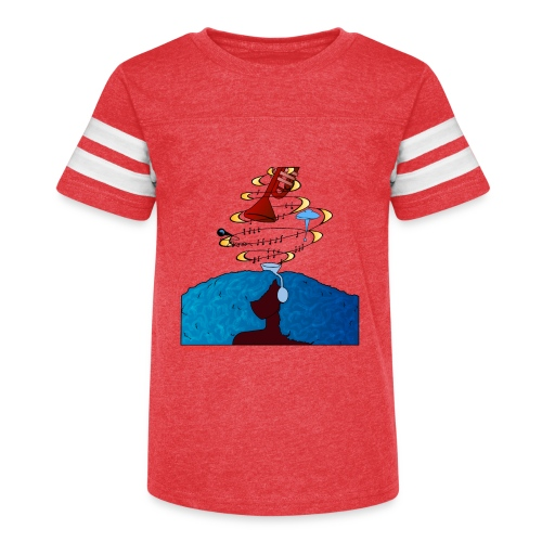 Girl and name shirt - Kid's Vintage Sport T-Shirt