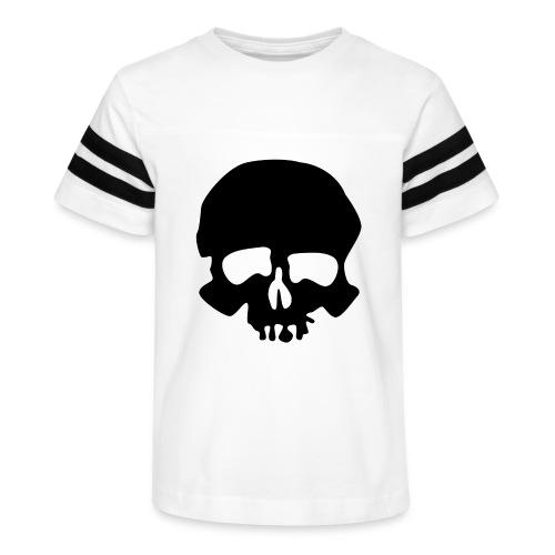 Black Skull - Kid's Vintage Sport T-Shirt