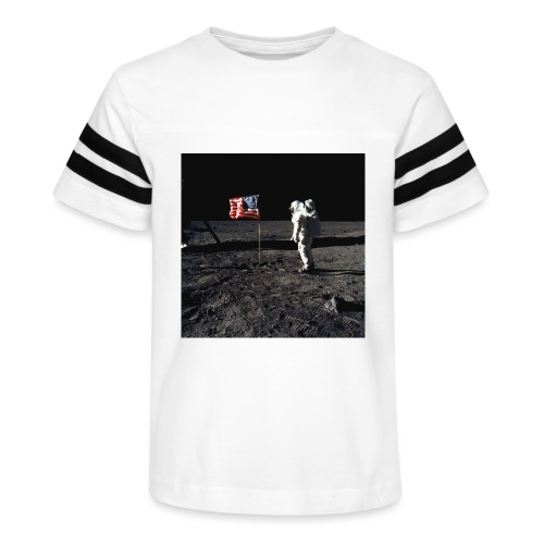 buzzAldrin jpg - Kid's Vintage Sport T-Shirt