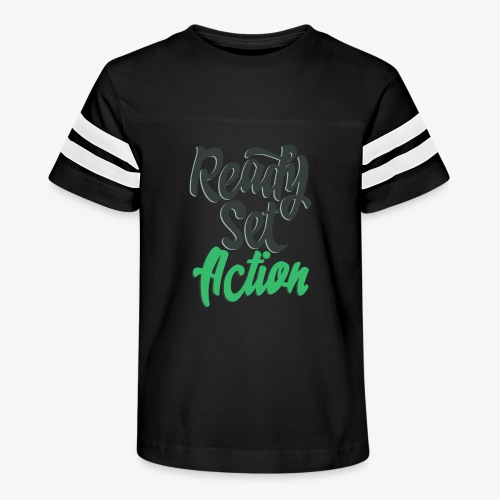 Ready.Set.Action! - Kid's Vintage Sport T-Shirt