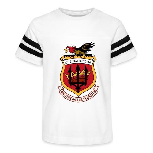USS Saratoga CV60 - Kid's Vintage Sport T-Shirt