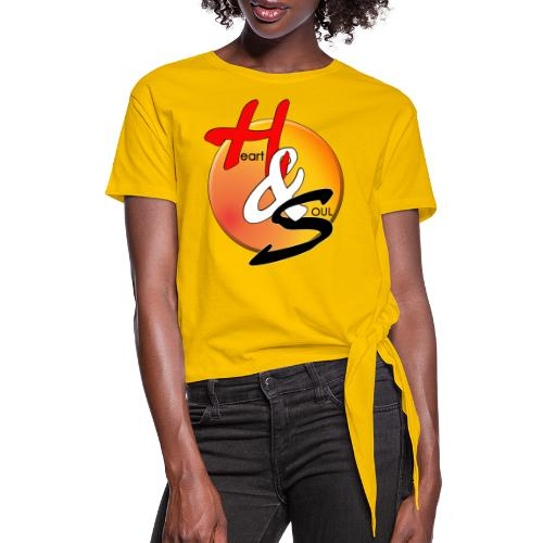 Rcahas logo gold - Women's Knotted T-Shirt