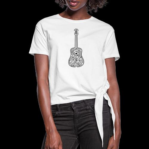 Amazing Guitar - Customizable Color Design - Women's Knotted T-Shirt
