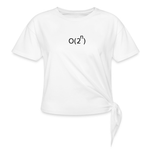 Big-O Notation - Women's Knotted T-Shirt