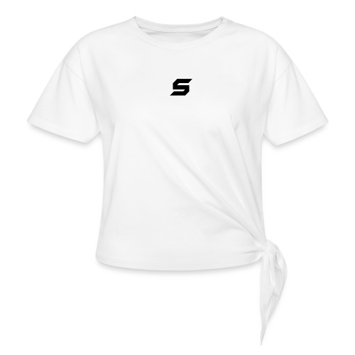 A s to rep my logo - Women's Knotted T-Shirt