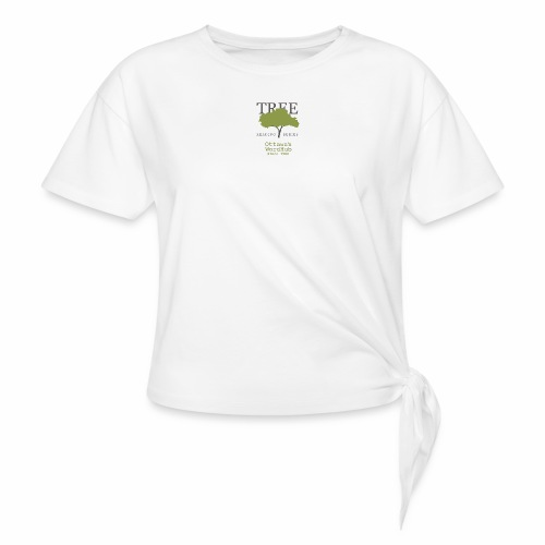 Tree Reading Swag - Women's Knotted T-Shirt