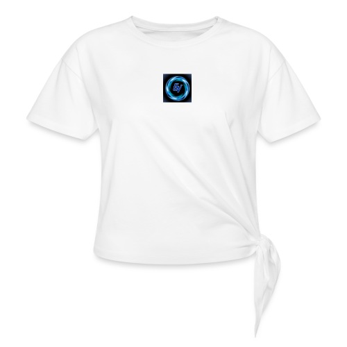 MY YOUTUBE LOGO 3 - Women's Knotted T-Shirt