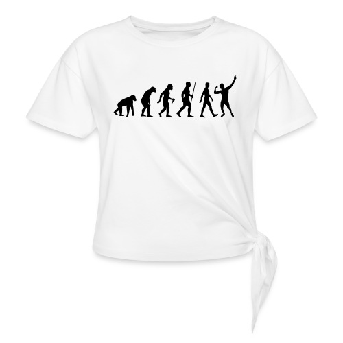 Evolution of Zyzz - Women's Knotted T-Shirt