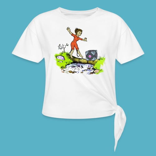 Testing Everywhere! - Women's Knotted T-Shirt