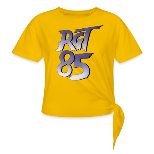 RGT 85 Logo - Women's Knotted T-Shirt