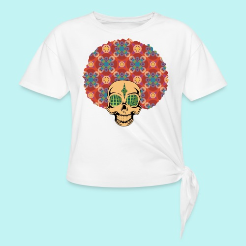 MACK DADDY SKULLY - Women's Knotted T-Shirt
