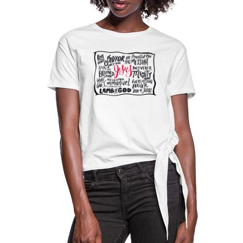 King of Kings Shirt - Women's Knotted T-Shirt