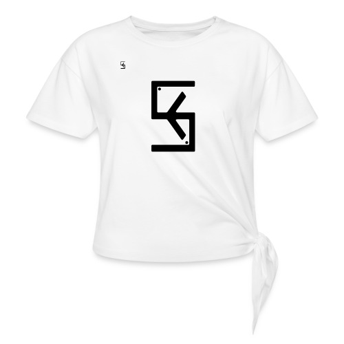 Soft Kore Logo Black - Women's Knotted T-Shirt