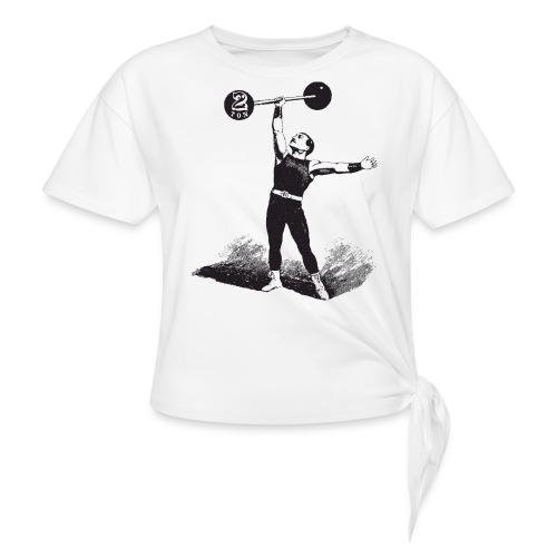 Women's 2Ton Sideshow Strongman Shirt - Women's Knotted T-Shirt