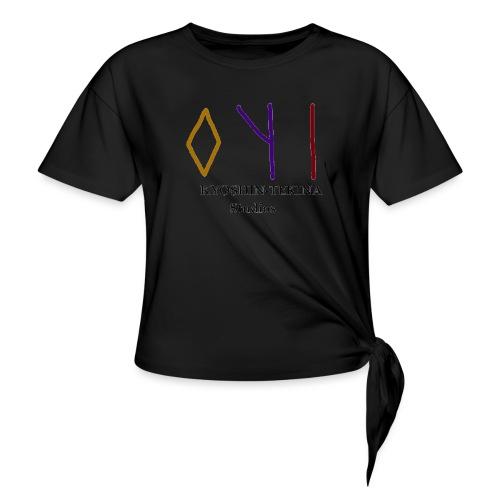 Kyoshin-Tekina Studios logo (black test) - Women's Knotted T-Shirt